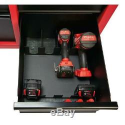Milwaukee Tool Chest 46 in. 16-Drawer Steel Rolling Cabinet Set, Red Black