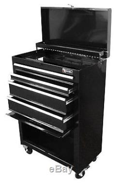 NEW 4 Drawer Tool Chest Cabinet Box Rolling Top Black Storage Tools Garage 22 in