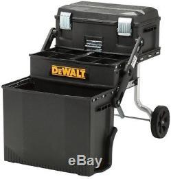 NEW DeWALT Black Utility Rolling Portable Toolbox Cart Chest Tool-Storage-Box