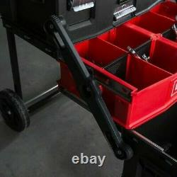 NEW Portable Tool Box Storage Rolling Mobile Organizer Work Station Lockable