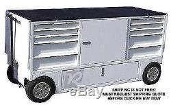 NEW RSR NASCAR Pit Box Pitbox Rolling Portable Racing Toolbox Cart Kart Tool box