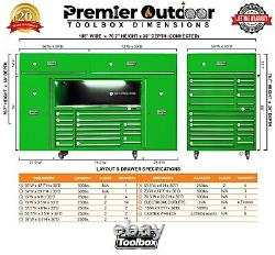 New 15.5 Foot Industrial Toolbox System Rolling Toolbox Lifetime Warranty