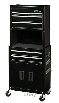 New 20-In 5-Drawer Rolling Tool Chest & Cabinet Combo With Riser