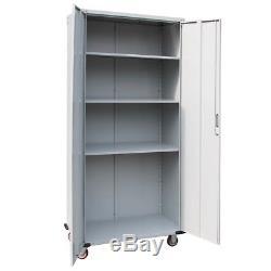 New Metal Rolling Garage Tool Box File Storage Cabinet Box Shelving Door withwheel