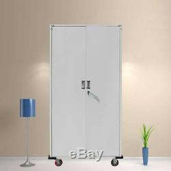 New Rolling Garage Tool File Storage Cabinet Box Shelving Doors with 13CM wheel