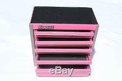 New Snap On Pink Mini Bottom Roll Cab Tool Box Mother's Day Limited Edition
