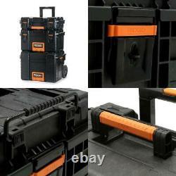 Organizer Tool Box Portable Rolling Heavy Duty Gear Cart Lockable Storage Chest