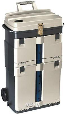 Plano Pro Rolling Work Station Drawers Storage Metal Locking Organize SHIPS FREE