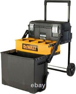 Portable Storage Tool Box Mobile Rolling Organizer Bin Tray DEWALT DWST20880