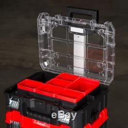 Portable Tool Box Storage Modular Rolling Organizer Tower Lockable Wheeled