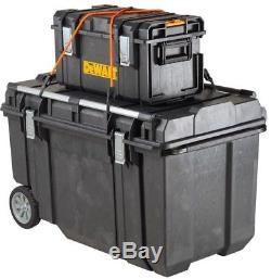 Portable Tool Storage Rolling Box Lockable Organizer Water Resistant DEWALT