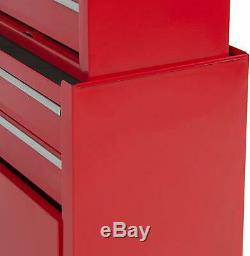 Portable Top Chest Rolling Tool Storage Box Cabinet Sliding Drawers Heavy Duty