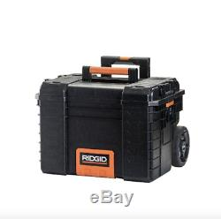 Quality Ridgid Rolling-Wheel Portable Toolbox Cart Chest Tool-Storage-Box (3-pc)