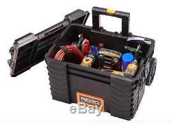 Quality Ridgid Rolling-Wheel Portable Toolbox Cart Chest Tool-Storage-Box (3-pc)