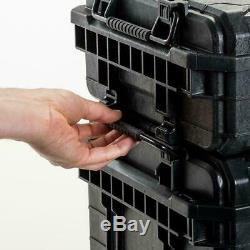 RIDGID 3 Tool Box Portable Rolling Cart Professional Storage Organizer Toolbox
