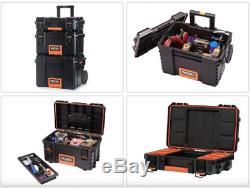 RIDGID Tool Box Portable Rolling Cart Professional Tool Storage Organizer 3 Pcs