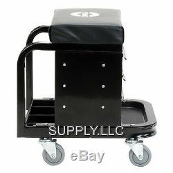 ROLLING SHOP CREEPER CHEST Garage Tool Box Drawer Portable Storage Seat