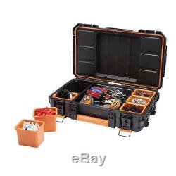 Ridgid Tool Box Portable Storage Organizer Tool Box Gear Rolling Cart 3-Pc Set