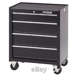 Rolling Cabinet, 26W x 18D x 32H, Black WATERLOO SCA-264BK-B