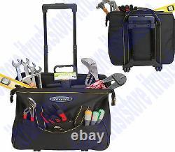 Rolling Hand Tool Box On Wheels Portable Rollaway Nylon Bag Case Storage