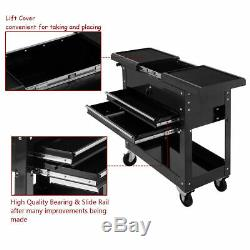 Rolling Mechanics Tool Cart Slide Top Utility Storage Cabinet