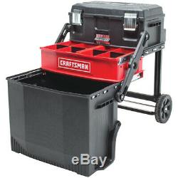 Rolling Portable Tool Box Chest Storage Cart Mobile Organizer Work Station