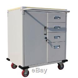 Rolling Storage Cabinet Chest Cart Garage Toolbox +4 Drawers/ Rubber Wheels New