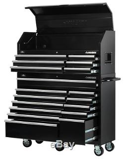 Rolling Tool Box 18-Drawer Chest Cabinet Husky Steel Storage Mechanic Garage New