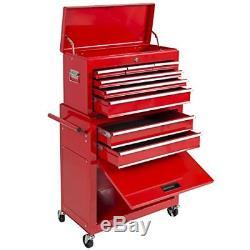 Rolling Tool Box Cabinet Set 42 Drawers Garage Storage Organizer Portable Top