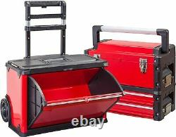 Rolling Tool Box Chest Garage Workshop Organizer Portable Stackable Toolbox Stee