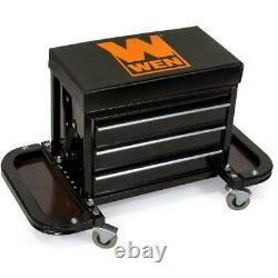 Rolling Tool Box WEN Garage Glider Heavy Duty Machines 3 Drawer Cabinet Bench
