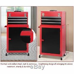 Rolling Tool Box With Wheels Cart On Metal Roll Large Chest Garage Storage Tools