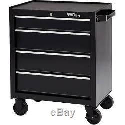 Rolling Tool Cabinet 4 Drawer with Ball Bearing Slides, 26W Rolling Storage New