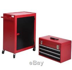 Rolling Tool Cabinet Storage Chest Box Garage Toolbox Organizer Drawer Portable