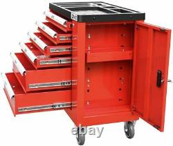 Rolling Tool Cart Cabinet Heavy Duty Roller Tool Organizer Storge Chest Garage S
