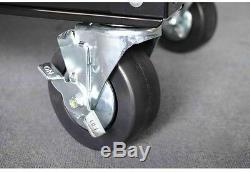 Rolling Tool Cart Chest Steel Black Drawers Casters Wheels Workshop Garage Duty