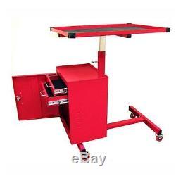 Rolling Tool Cart Lock Toolbox Chest Storage Drawer Adjustable Work Bench Garage