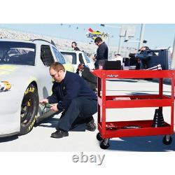 Rolling Tool Cart Utility Mechanic Garage 3 Tray Shelf Storage Organizer Cabinet