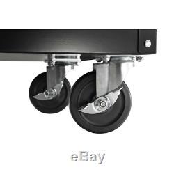 Rolling Tool Chest Cabinet Organizer Mechanics Box Cart Bench 4 Drawer Black