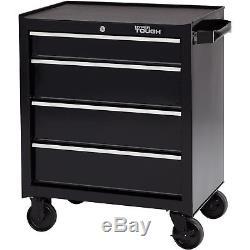 Rolling Tool Chest Steel Cabinet 4-Drawer Wheeled Mechanic Box Garage Storage