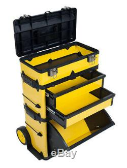 Rolling Tool Storage Box With Wheels Organizers Handle Garage Chest Cabinet