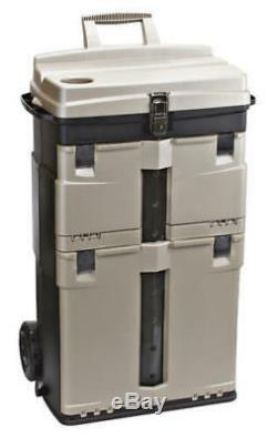 Rolling Workstation Heavy Duty Large Wheel Bin 3 Drawer Strong Handle Thick Wall