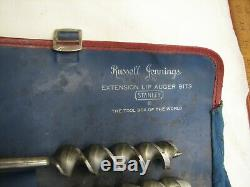 Russel Jennings Stanley # 101 Brace Auger Drill Bits Tool Box of the World Roll