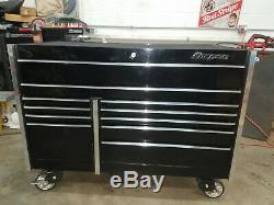 SNAPON TOOLBOX SNAP-ON TOOL BOX BLACK ROLLING CAB SHOP CHEST KRL7022CPC 54x28