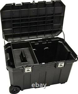 STANLEY Tool Box, Mobile Rolling Chest, 50-Gallon, with Handle (037025H)