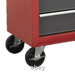Sealey AP22505BB Roll Cab Tool Box Chest Ball Bearing Runners 5 Drawer Red/Grey