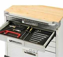 Seville Classics Heavy Duty 6-Drawer Rolling Cabinet Tool Box Kitchen Storage