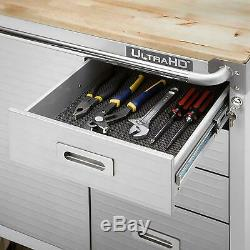 Seville Classics Heavy Duty XL 4-Drawer Rolling Cabinet Locking Steel Tool Box