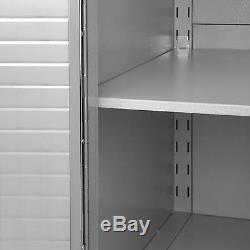 Seville Classics Heavy Duty XL 4-Drawer Rolling Cabinet Locking Steel Tool Box