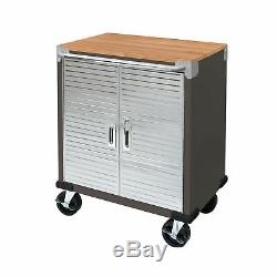Seville Classics UltraHD 2-Door Rolling Cabinet Graphite Color NEW